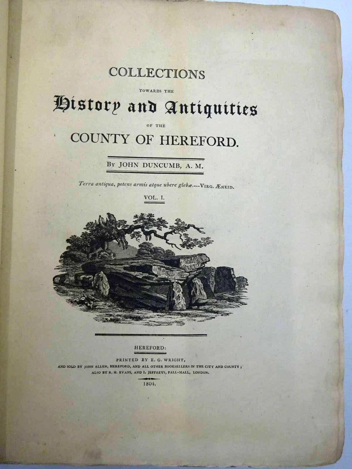 Photo of COLLECTIONS TOWARDS THE HISTORY AND ANTIQUITIES OF THE COUNTY OF HEREFORD (3 VOLUMES) written by Duncumb, John<br />Cooke, William Henry published by John Murray (STOCK CODE: 2128333)  for sale by Stella & Rose's Books