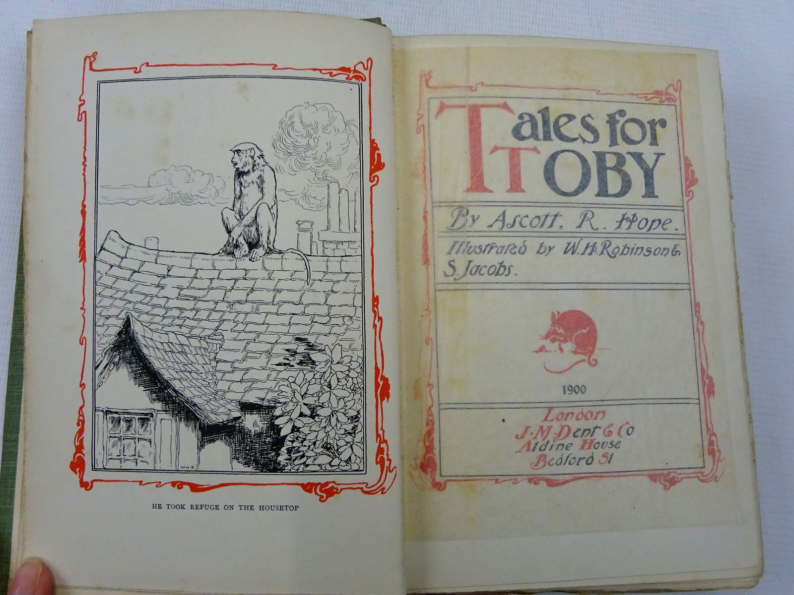 Photo of TALES FOR TOBY written by Hope, Ascott R. illustrated by Robinson, W. Heath<br />Jacobs, S. published by J.M. Dent & Co. (STOCK CODE: 2128336)  for sale by Stella & Rose's Books