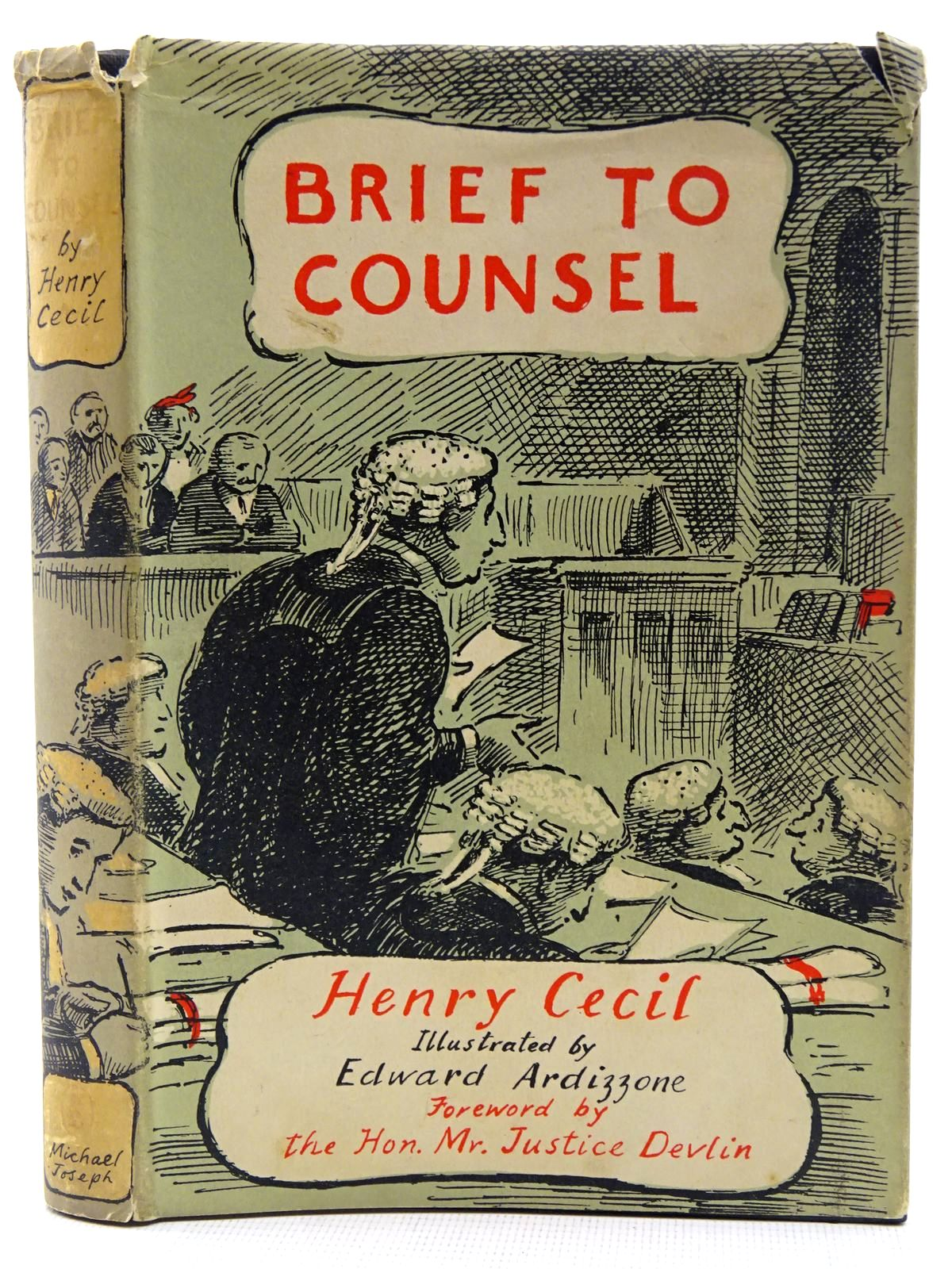 Photo of BRIEF TO COUNSEL written by Cecil, Henry illustrated by Ardizzone, Edward published by Michael Joseph (STOCK CODE: 2128458)  for sale by Stella & Rose's Books