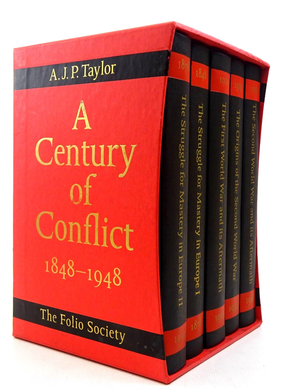 Photo of A CENTURY OF CONFLICT 1848-1948 (5 VOLUMES) written by Taylor, A.J.P. published by Folio Society (STOCK CODE: 2128959)  for sale by Stella & Rose's Books