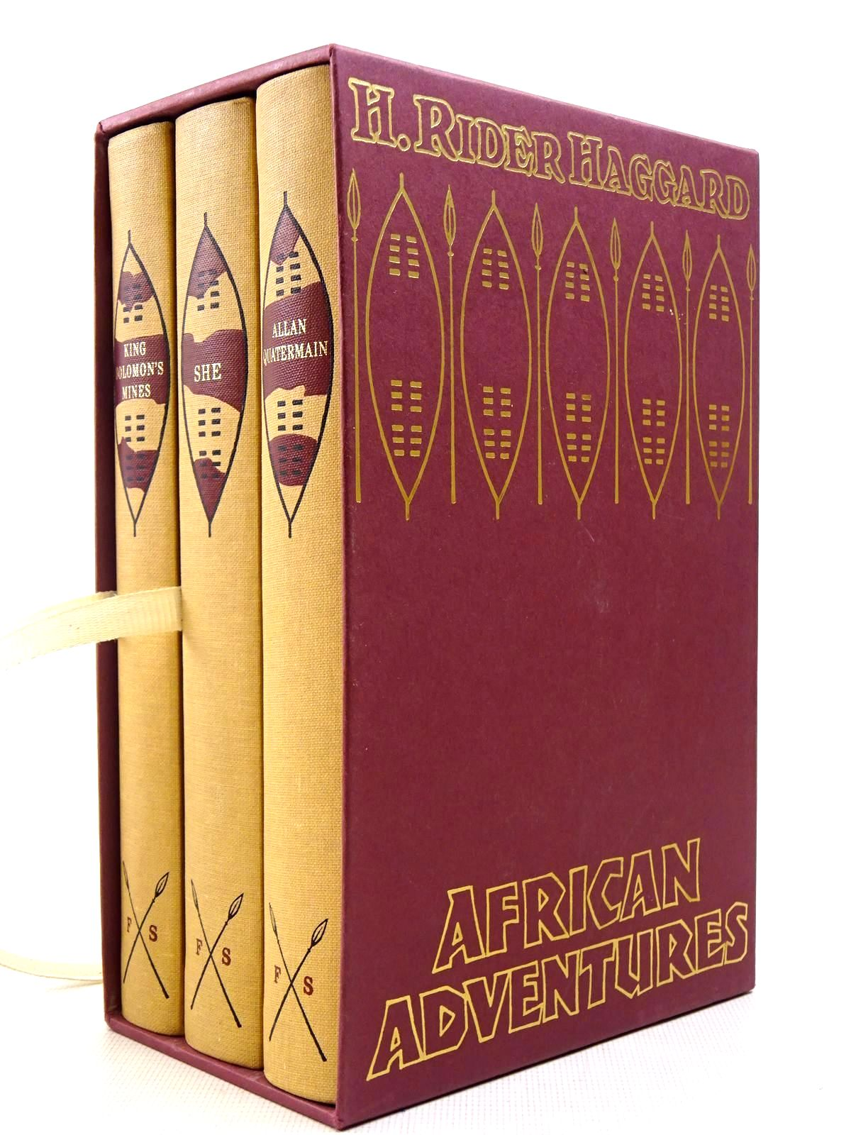 Photo of AFRICAN ADVENTURES (3 VOLUMES) written by Haggard, H. Rider illustrated by Eccles, David published by Folio Society (STOCK CODE: 2128964)  for sale by Stella & Rose's Books