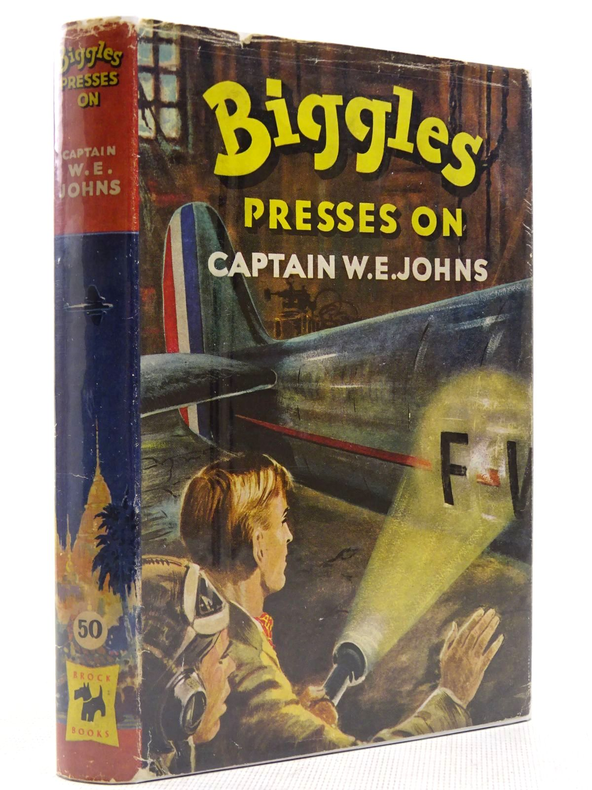Photo of BIGGLES PRESSES ON written by Johns, W.E. illustrated by Stead, Leslie published by Brockhampton Press Ltd. (STOCK CODE: 2128982)  for sale by Stella & Rose's Books