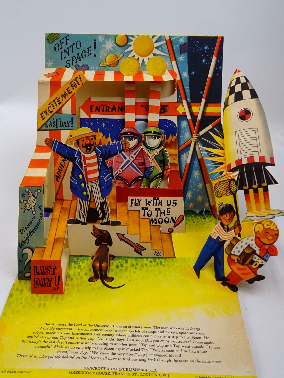 Photo of TIP + TOP AND THE MOON ROCKET illustrated by Kubasta, Vojtech published by Bancroft & Co.(Publishers) Ltd. (STOCK CODE: 2129025)  for sale by Stella & Rose's Books
