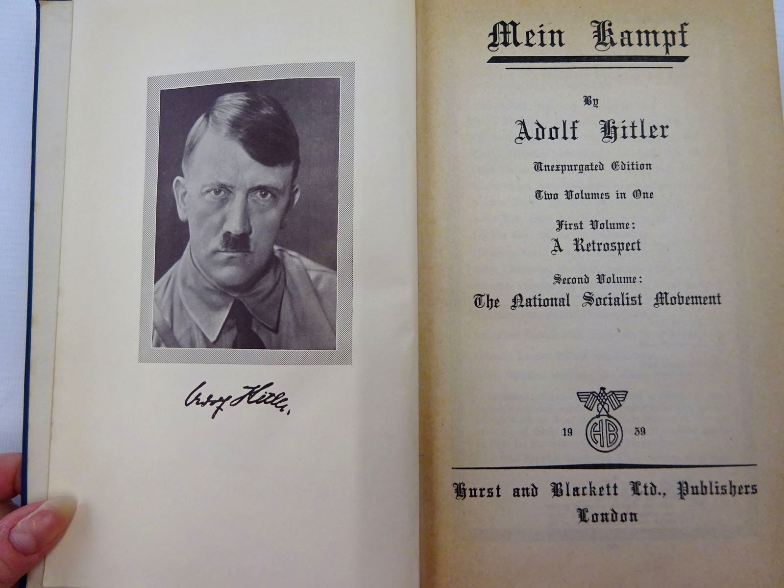 Photo of MEIN KAMPF written by Hitler, Adolf published by Hurst & Blackett Ltd. (STOCK CODE: 2129186)  for sale by Stella & Rose's Books