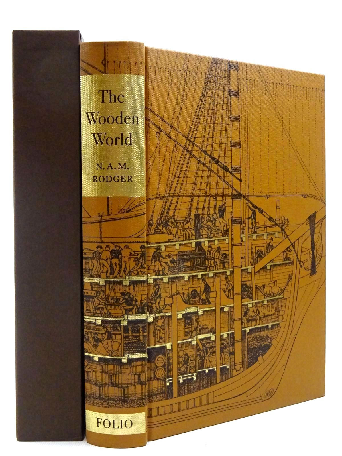 Photo of THE WOODEN WORLD AN ANATOMY OF THE GEORGIAN NAVY written by Rodger, N.A.M. published by Folio Society (STOCK CODE: 2129205)  for sale by Stella & Rose's Books