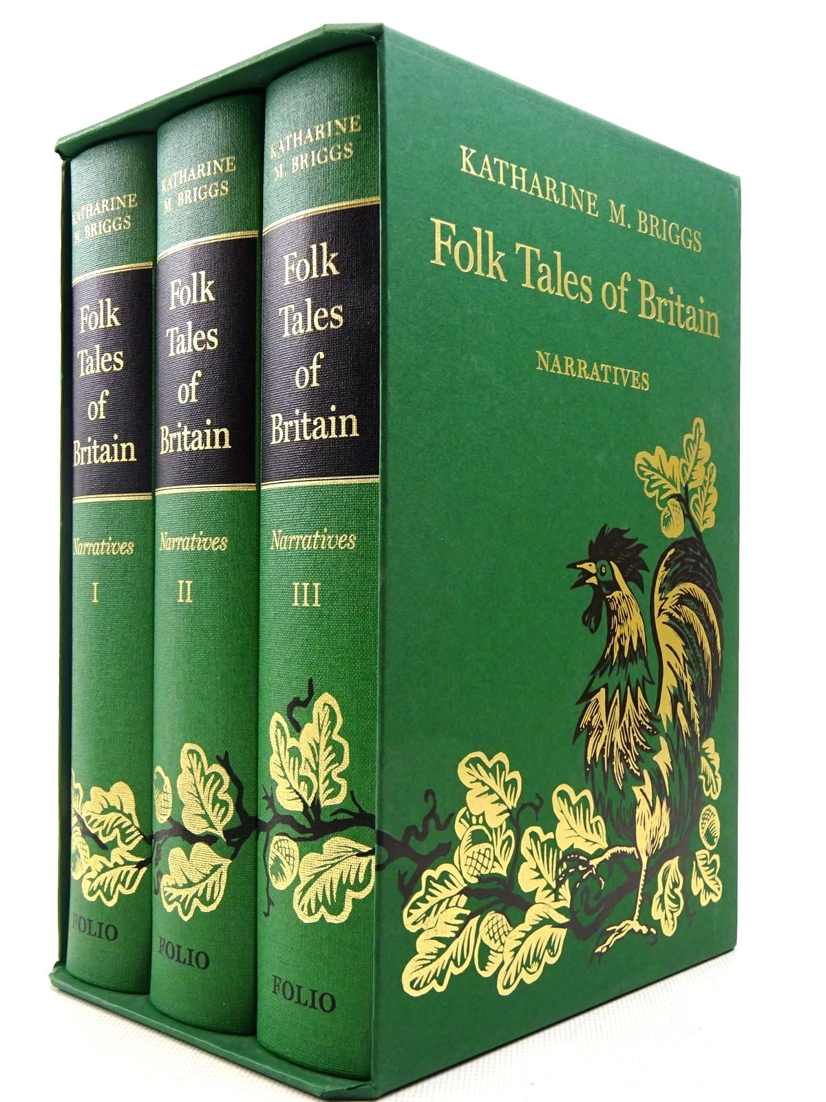 Photo of FOLK TALES OF BRITAIN NARRATIVES (3 VOLUMES) written by Briggs, Katharine M. illustrated by Firmin, Hannah<br />Firmin, Peter<br />Melinsky, Clare published by Folio Society (STOCK CODE: 2129212)  for sale by Stella & Rose's Books