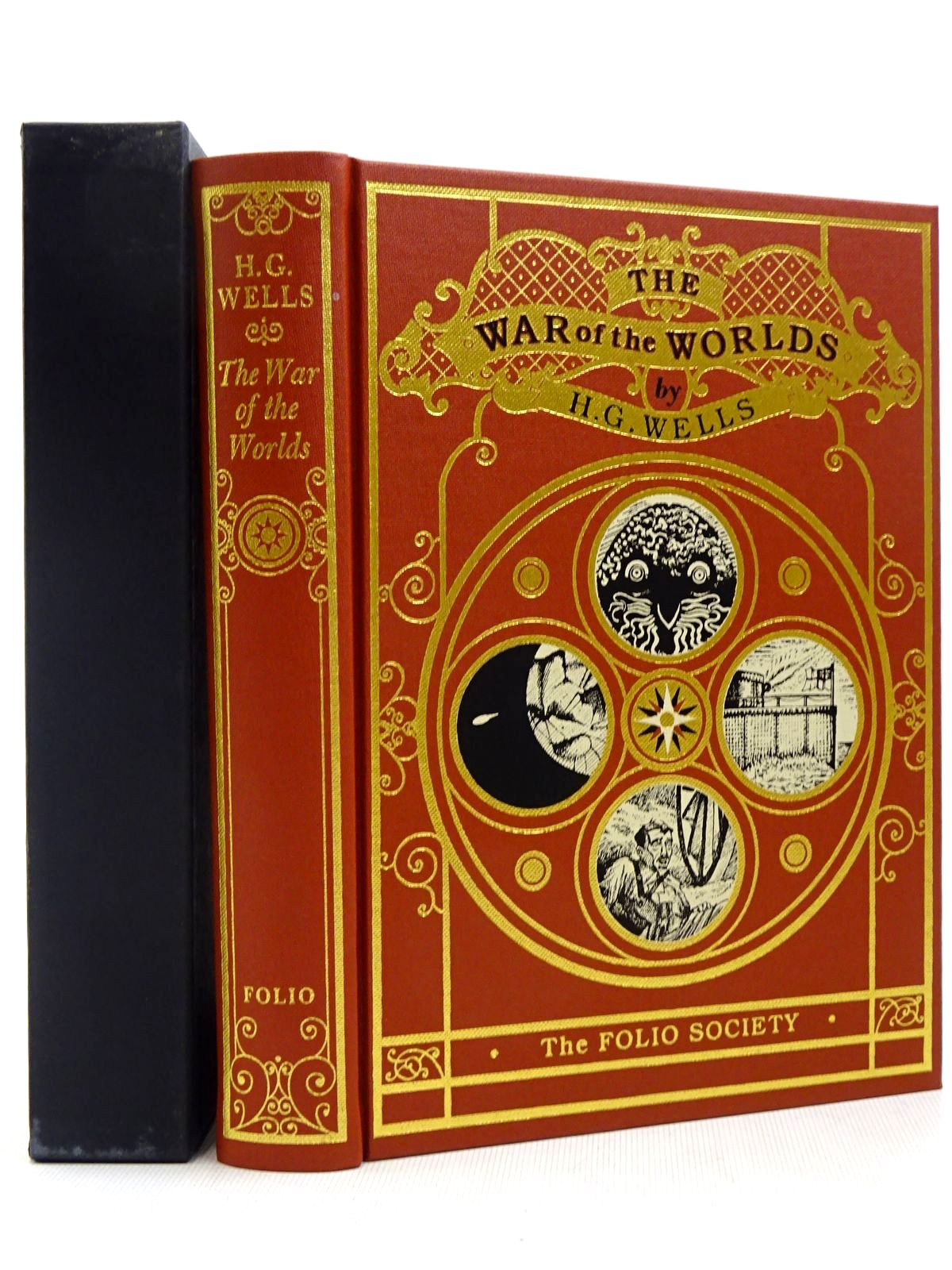 Photo of THE WAR OF THE WORLDS written by Wells, H.G.<br />Sinclair, Iain illustrated by Baker, Grahame published by Folio Society (STOCK CODE: 2129249)  for sale by Stella & Rose's Books