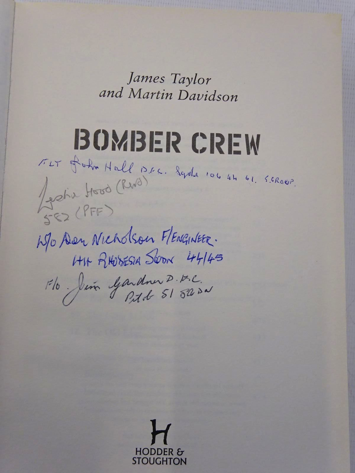 Photo of BOMBER CREW written by Taylor, James<br />Davidson, Martin published by Hodder & Stoughton (STOCK CODE: 2129279)  for sale by Stella & Rose's Books