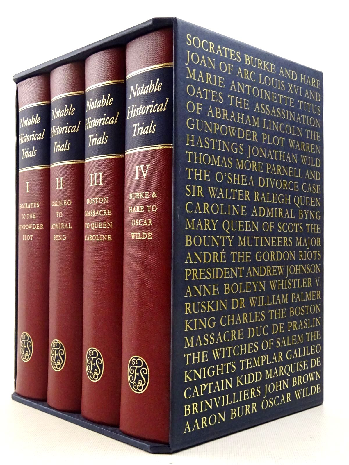 Photo of NOTABLE HISTORICAL TRIALS (4 VOLUMES) written by Lovill, Justin published by Folio Society (STOCK CODE: 2129358)  for sale by Stella & Rose's Books