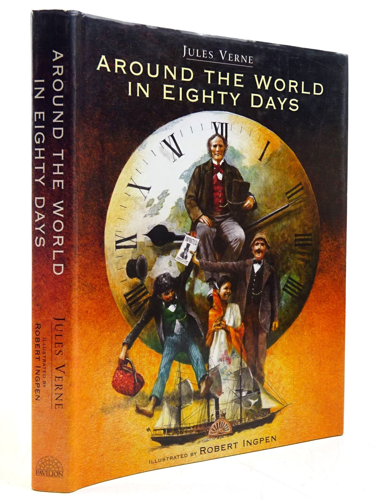 Photo of AROUND THE WORLD IN EIGHTY DAYS written by Verne, Jules illustrated by Ingpen, Robert published by Pavilion (STOCK CODE: 2130835)  for sale by Stella & Rose's Books