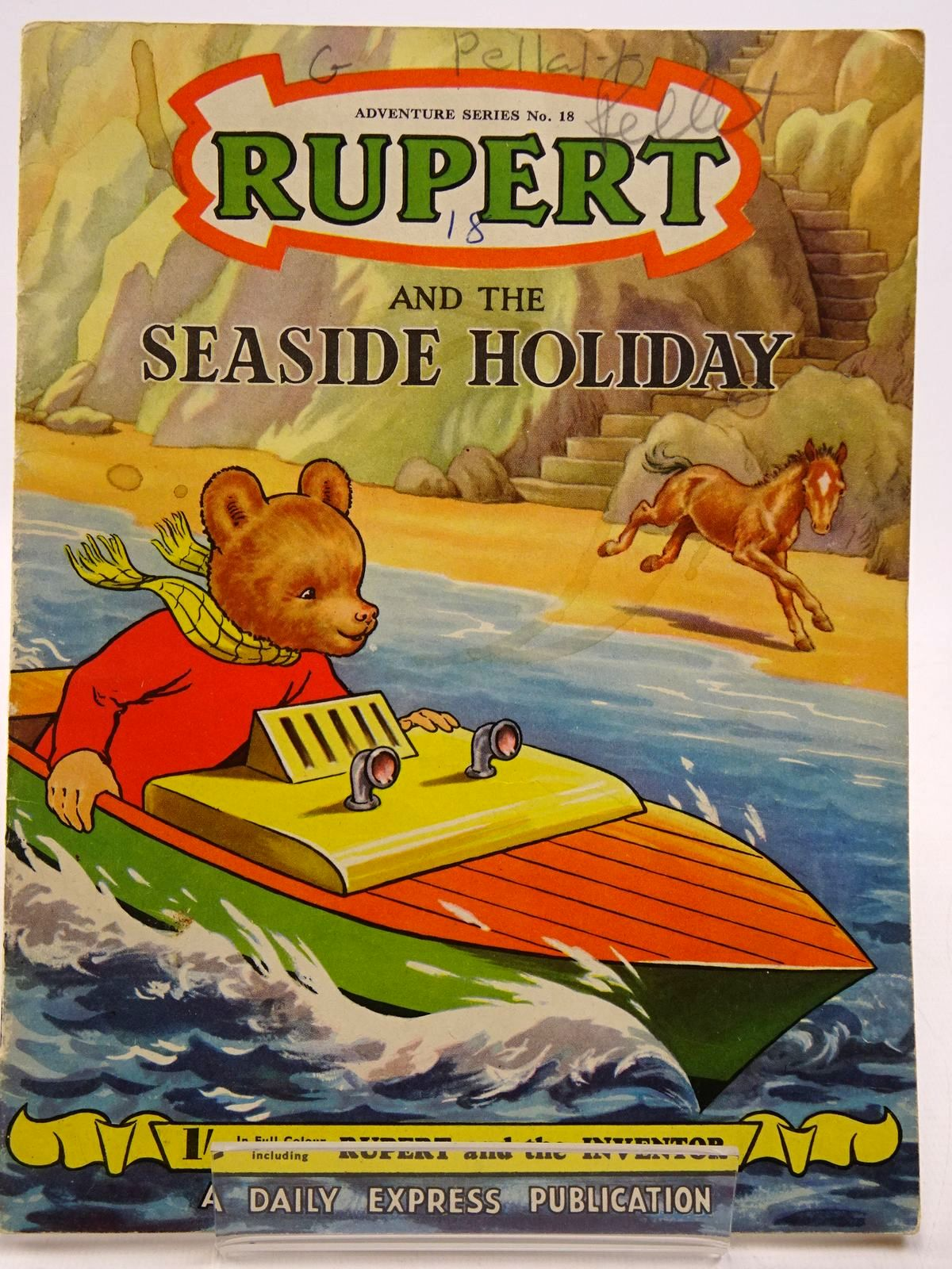 Photo of RUPERT ADVENTURE SERIES No. 18 - RUPERT AND THE SEASIDE HOLIDAY written by Bestall, Alfred illustrated by Bestall, Alfred published by Daily Express (STOCK CODE: 2130870)  for sale by Stella & Rose's Books