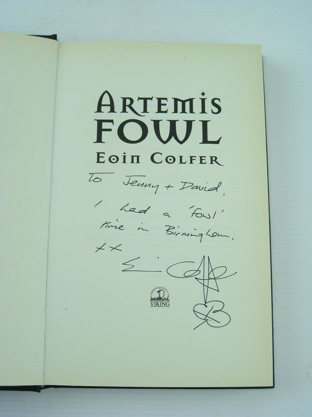 Photo Of Artemis Fowl Written By Colfer, Eoin Published By Viking (stock  Code: