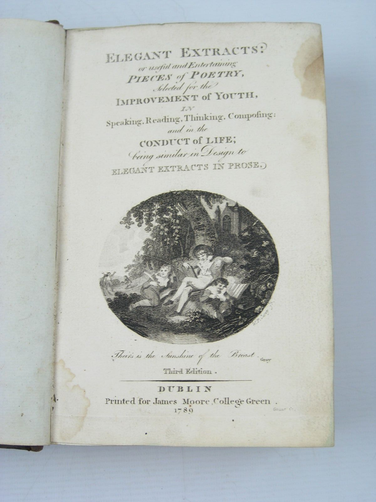 Photo of ELEGANT EXTRACTS: OR USEFUL AND ENTERTAINING PIECES OF POETRY published by James Moore (STOCK CODE: 446391)  for sale by Stella & Rose's Books