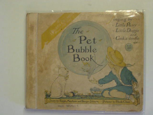 Photo of THE PET BUBBLE BOOK written by Mayhew, Ralph<br />Johnson, Burges illustrated by Chase, Rhoda C. published by Hodder & Stoughton (STOCK CODE: 557364)  for sale by Stella & Rose's Books