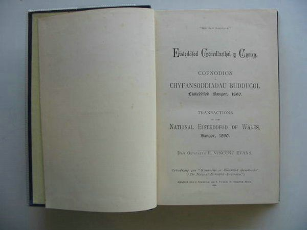 Photo of EISTEDDFOD TRANSACTIONS BANGOR 1890 written by Evans, E. Vincent published by I. Foulkes (STOCK CODE: 559517)  for sale by Stella & Rose's Books