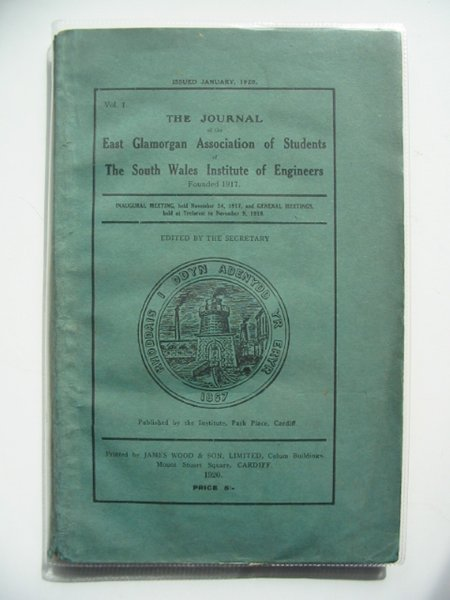 Photo of THE JOURNAL OF THE EAST GLAMORGAN ASSOCIATION OF STUDENTS OF THE SOUTH WALES INSTITUTE OF ENGINEERS VOL 1 published by The South Wales Institute Of Engineers (STOCK CODE: 560478)  for sale by Stella & Rose's Books