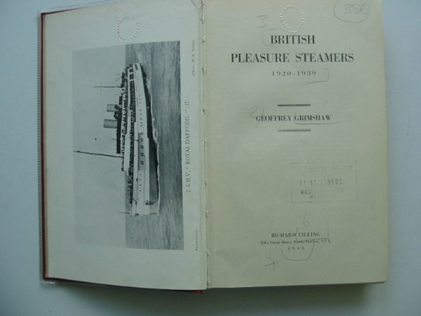 Photo of BRITISH PLEASURE STEAMERS 1920-1939 written by Grimshaw, Geoffrey published by Richard Tilling (STOCK CODE: 570493)  for sale by Stella & Rose's Books