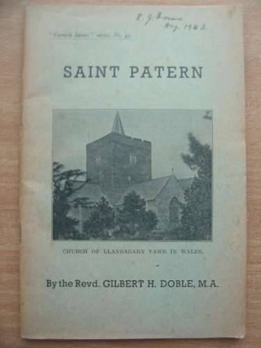 Photo of SAINT PATERN written by Doble, Gilbert H. (STOCK CODE: 571897)  for sale by Stella & Rose's Books