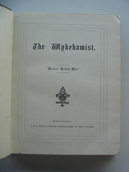 Photo of THE WYKEHAMIST published by P. & G. Wells Ltd. (STOCK CODE: 577105)  for sale by Stella & Rose's Books