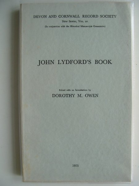 Photo of JOHN LYDFORD'S BOOK written by Owen, Dorothy M. published by HMSO (STOCK CODE: 578577)  for sale by Stella & Rose's Books
