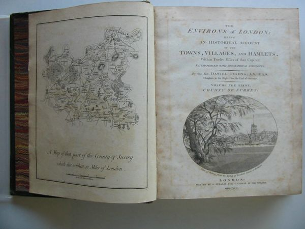 Photo of THE ENVIRONS OF LONDON COUNTY OF SURREY written by Lysons, Daniel published by T. Cadell (STOCK CODE: 579714)  for sale by Stella & Rose's Books