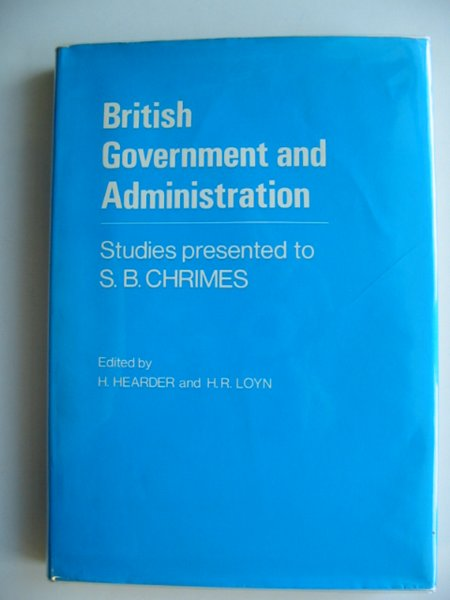 Photo of BRITISH GOVERNMENT AND ADMINISTRATION written by Hearder, H.<br />Loyn, Henry R. published by University of Wales (STOCK CODE: 584071)  for sale by Stella & Rose's Books