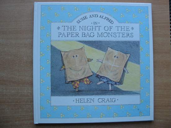 Photo of SUSIE AND ALFRED IN THE NIGHT OF THE PAPER BAG MONSTERS. written by Craig, Helen illustrated by Craig, Helen published by Walker Books (STOCK CODE: 586927)  for sale by Stella & Rose's Books