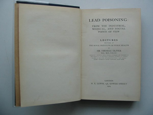 Photo of LEAD POISONING written by Oliver, Thomas published by H.K. Lewis (STOCK CODE: 589742)  for sale by Stella & Rose's Books