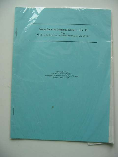 Photo of NOTES FROM THE MAMMAL SOCIETY No. 36 published by Zoological Society Of London (STOCK CODE: 596174)  for sale by Stella & Rose's Books