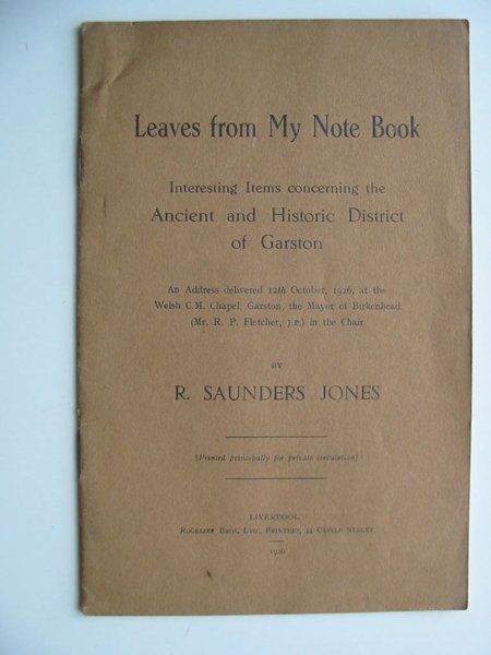 Photo of LEAVES FROM MY NOTE BOOK written by Jones, R. Saunders published by Rockliff (STOCK CODE: 597735)  for sale by Stella & Rose's Books