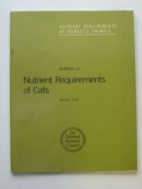Photo of NUTRIENT REQUIREMENTS OF CATS published by National Academy Of Sciences (STOCK CODE: 626376)  for sale by Stella & Rose's Books