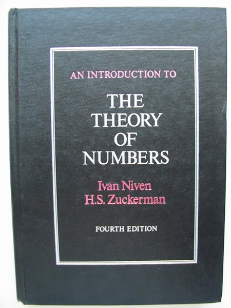 Photo of AN INTRODUCTION TO THE THEORY OF NUMBERS written by Niven, Ivan<br />Zuckerman, Herbert S. published by John Wiley & Sons (STOCK CODE: 627815)  for sale by Stella & Rose's Books