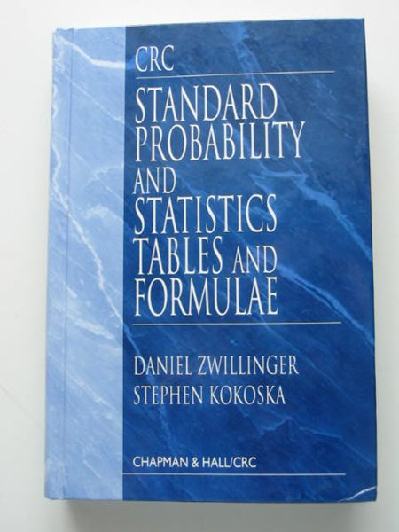 Photo of STANDARD PROBABILITY AND STATISTICS TABLES AND FORMULAE written by Zwillinger, Daniel<br />Kokoska, Stephen published by Chapman & Hall, CRC Press (STOCK CODE: 627953)  for sale by Stella & Rose's Books