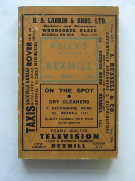 Photo of KELLY'S DIRECTORY OF BEXHILL published by Kelly's Directories Ltd. (STOCK CODE: 628266)  for sale by Stella & Rose's Books