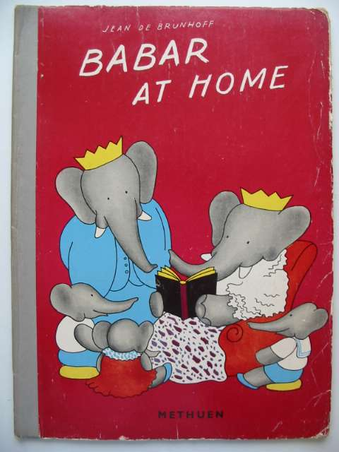 Photo of BABAR AT HOME written by De Brunhoff, Jean illustrated by De Brunhoff, Jean published by Methuen & Co. Ltd. (STOCK CODE: 630036)  for sale by Stella & Rose's Books