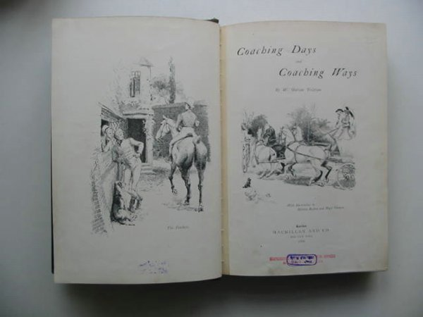 Photo of COACHING DAYS AND COACHING WAYS written by Tristram, W. Outram illustrated by Railton, Herbert<br />Thomson, Hugh published by Macmillan & Co. (STOCK CODE: 630817)  for sale by Stella & Rose's Books