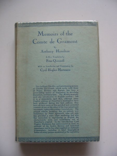 Photo of MEMOIRS OF THE COMTE DE GRAMONT written by Hamilton, Anthony<br />Quennell, Peter published by George Routledge & Sons Ltd. (STOCK CODE: 653584)  for sale by Stella & Rose's Books