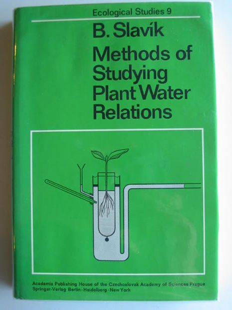 Photo of METHODS OF STUDYING PLANT WATER RELATIONS written by Slavik, Bohdan published by Springer-Verlag (STOCK CODE: 667293)  for sale by Stella & Rose's Books