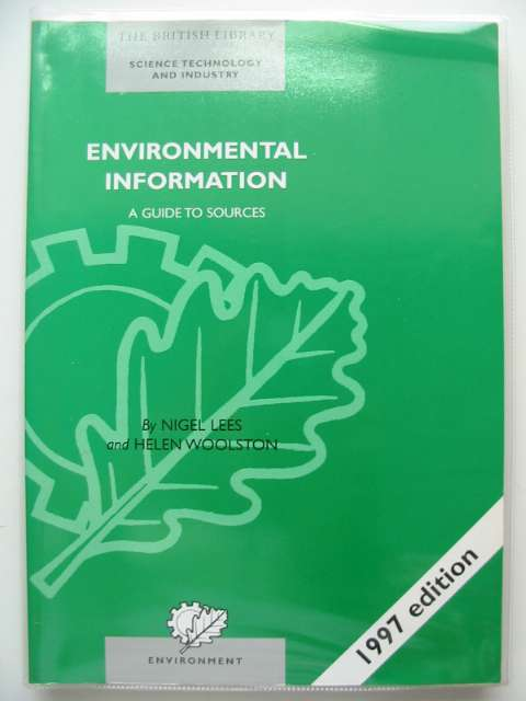 Photo of ENVIRONMENTAL INFORMATION A GUIDE TO SOURCES written by Lees, Nigel<br />Woolston, Helen published by The British Library (STOCK CODE: 680563)  for sale by Stella & Rose's Books