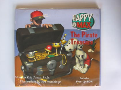 Photo of HAPPY AND MAX THE PIRATE TREASURE written by Jamsa, Kris illustrated by Vandeleigh, Art published by Jamsa Press (STOCK CODE: 722142)  for sale by Stella & Rose's Books