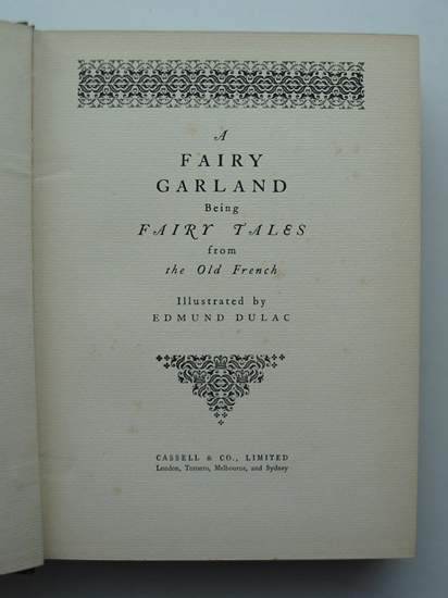 Photo of A FAIRY GARLAND written by Perrault, Charles<br />D'Aulnoy, Madame<br />et al, illustrated by Dulac, Edmund published by Cassell & Company Ltd (STOCK CODE: 806195)  for sale by Stella & Rose's Books
