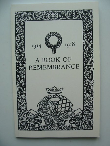 Photo of A BOOK OF REMEMBRANCE published by The Naval & Military Press Ltd. (STOCK CODE: 806313)  for sale by Stella & Rose's Books