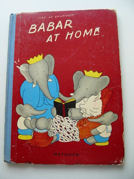 Photo of BABAR AT HOME written by De Brunhoff, Jean illustrated by De Brunhoff, Jean published by Methuen & Co. Ltd. (STOCK CODE: 806915)  for sale by Stella & Rose's Books