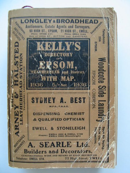 Photo of KELLY'S DIRECTORY OF EPSOM, LEATHERHEAD AND DISTRICT published by Kelly's Directories Ltd. (STOCK CODE: 807183)  for sale by Stella & Rose's Books