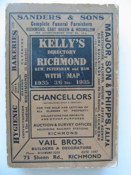 Photo of KELLY'S DIRECTORY OF RICHMOND, KEW, PETERSHAM published by Kelly's Directories Ltd. (STOCK CODE: 807184)  for sale by Stella & Rose's Books