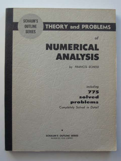 Photo of THEORY AND PROBLEMS OF NUMERICAL ANALYSIS written by Scheid, Francis published by McGraw-Hill Book Company (STOCK CODE: 811070)  for sale by Stella & Rose's Books
