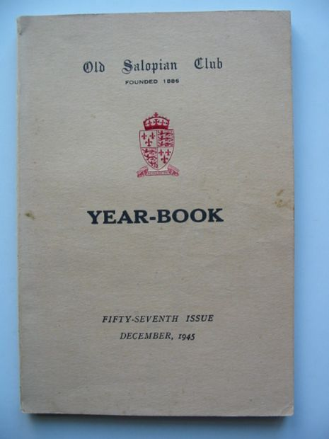 Photo of OLD SALOPIAN CLUB YEAR-BOOK 1945 published by Wilding & Son Ltd. (STOCK CODE: 811107)  for sale by Stella & Rose's Books