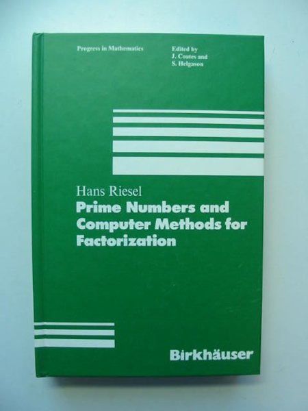 Photo of PRIME NUMBERS AND COMPUTER METHODS FOR FACTORIZATION written by Riesel, Hans published by Birkhauser (STOCK CODE: 811623)  for sale by Stella & Rose's Books