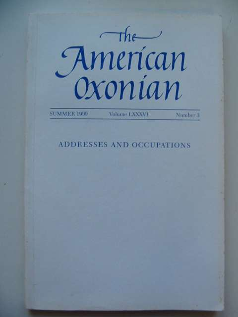 Photo of THE AMERICAN OXONIAN VOLUME LXXXVI NUMBER 3 published by The Association Of American Rhodes Scholars (STOCK CODE: 812034)  for sale by Stella & Rose's Books