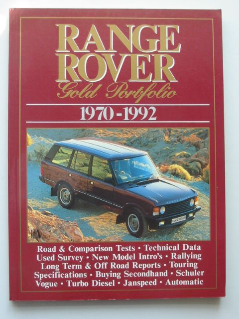 Photo of RANGE ROVER GOLD PORTFOLIO 1970-1992 written by Clarke, R.M. published by Brooklands Books (STOCK CODE: 815235)  for sale by Stella & Rose's Books